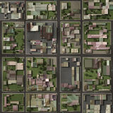Real Estate Property Neighborhood Homes. Top View Royalty Free Stock Photos