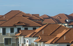 Real estate property roof. Royalty Free Stock Photography