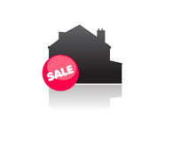 Real estate property for sale. Vector illustration stylized of house for sale at very competitive prices due to the financial crisis