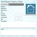 Real Estate Property Sheet Stock Photography