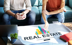 Real Estate Property working concept. Real Estate Property working Discussion Stock Image