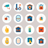 Real Estate Protection Icons. Assorted Real Estate Protection Icons Isolated on Gray Background Royalty Free Stock Image