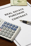 Real Estate Purchase Contract Royalty Free Stock Images
