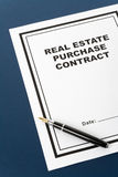 Real Estate Purchase Contract Stock Image