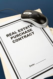 Real Estate Purchase Contract Stock Photo