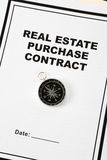 Real Estate Purchase Contract Stock Photography
