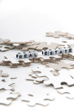Real Estate Puzzle Stock Photo