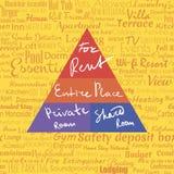 Real estate pyramide Stock Image