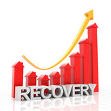 Real estate recovery chart, 3d render. White background Stock Photo