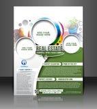 Real Estate reklambladdesign Arkivbild