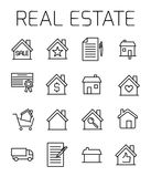 Real estate related vector icon set. Royalty Free Stock Photos