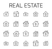 Real estate related vector icon set. royalty free illustration