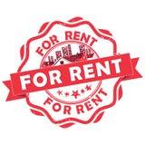 Real Estate - For Rent- rubber grunge stamp stock illustration