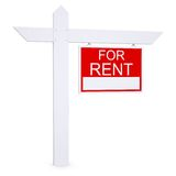 Real estate for rent sign Royalty Free Stock Images