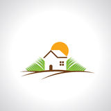 Real estate resort icon on white background Royalty Free Stock Image