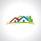 Real estate resort icon on white background Stock Photography