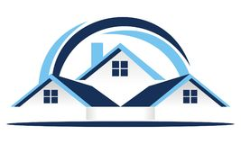 Real Estate Roof Vector. Real Estate Roof Logo Design Template Vector royalty free illustration