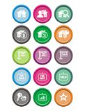 Real estate round icon sets Royalty Free Stock Images
