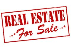 Real estate. Rubber stamp with text real estate inside,  illustration Stock Photo