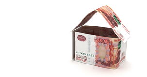 Real Estate with Russian Ruble stock footage