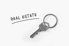 Real Estate sale. Concept with house key on white background Stock Image