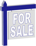 Real Estate - FOR SALE sign. Rendered sign. Also see SOLD and blank royalty free stock photography