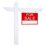 Real estate for sale sign Stock Photos