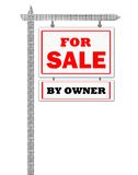 Real Estate For Sale Sign by owner Royalty Free Stock Image