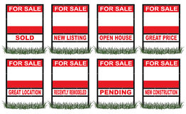 Real Estate For Sale Sign Short Royalty Free Stock Images