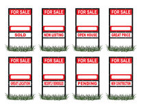 Real Estate For Sale Sign Standard Stock Image