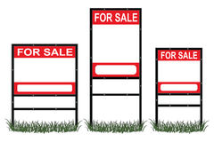 Real Estate For Sale Signs Stock Photography