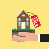 Real Estate For Sale Vector. Illustration Stock Photography
