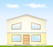 Real Estate For Sale. Vector illustration facade Royalty Free Stock Photography