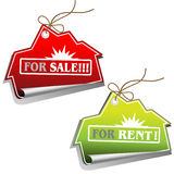 Real estate sales tags Stock Photos
