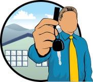 Real estate salesman Stock Photo
