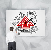 Real estate scheme on poster Royalty Free Stock Images