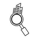 Real estate search house market outline. Illustration eps 10 Stock Images