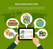 Real Estate Selection Concept Royalty Free Stock Photo