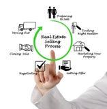 Real Estate selling Process. Presenting diagram of Real Estate selling Process stock images