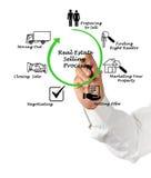 Real Estate Selling Process. Presenting Diagram of Real Estate Selling Process stock photos