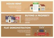 Real Estate servar Plan illustration för vektor stock illustrationer