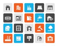 Real Estate services Icons. Vector Icon Set vector illustration