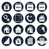 Real Estate. Set vector icons. Real Estate. 16 vector icons royalty free illustration