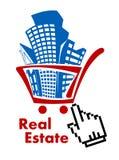 Real estate in shopping cart Stock Photos