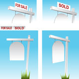 Real Estate Sign Stock Photo