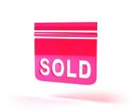 Real estate sign royalty free illustration