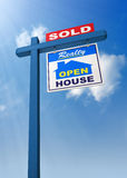 Real Estate Sign Stock Image