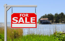 Real estate sign Stock Photography
