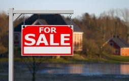 Real estate sign Stock Photos