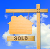 Real estate sign. Royalty Free Stock Photo